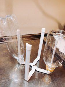 ペットボトルを乾かせるポリ袋エコホルダー