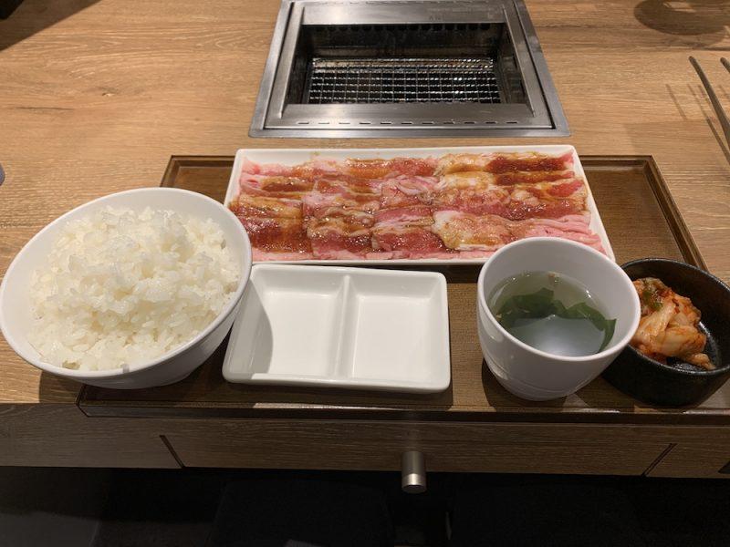 カルビ定食(200g)